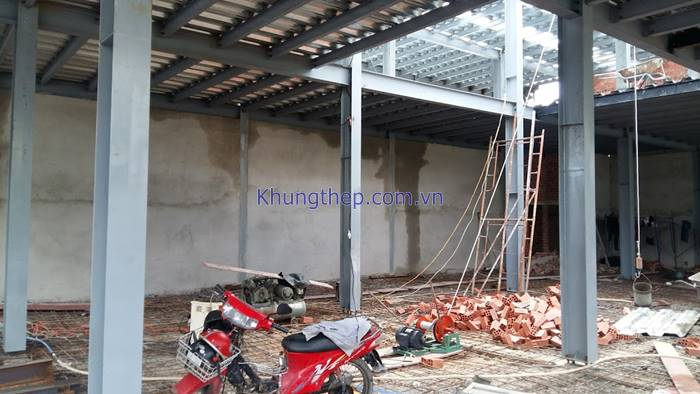 khung thép nhà 2 tầng