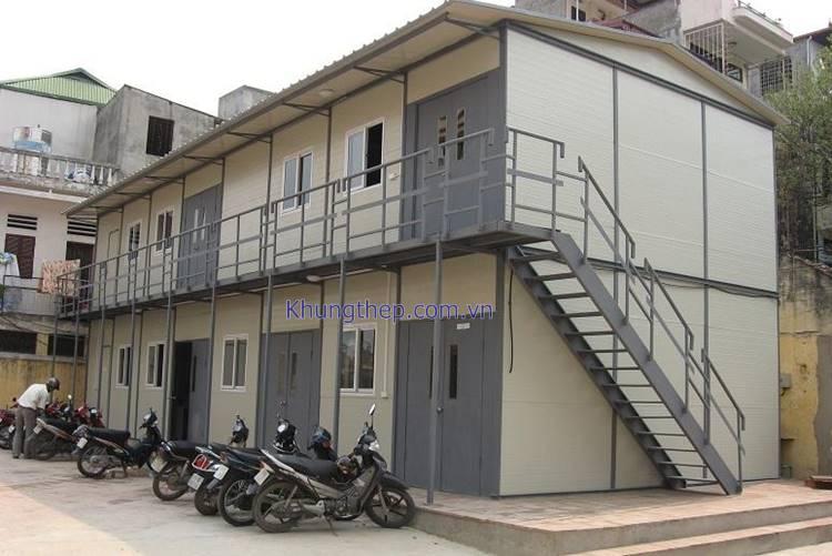 nhà khung thép 2 tầng